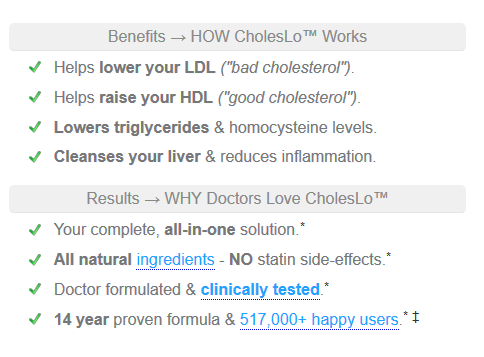 CholesLo for high cholesterol